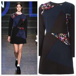 DKNY Embellished Panel Dress